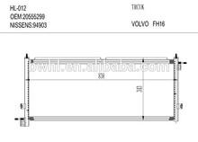 Condenser For VOLVO FH16 03 Truck 20555299 , Air Conditioning Condenser Manufacturer