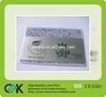 plástico transparente cartão de visita impressão