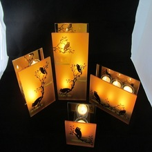 owl candle holder for lantern festival decoration,holloween items