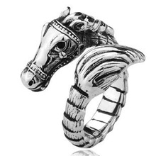 Wholesale Ferghana Horse Ring 316L Stainless Steel Punk Rock Men Gothic Jewelry Nickel Free Rings Gift