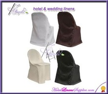 white folding chair covers, ivory folding chair covers, black folding chair covers made of polyester fabric