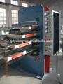 Baldosas de goma de vulcanización de prensa para la máquina de reciclaje de neumáticos/azulejo de goma de la máquina de la prensa