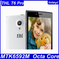 "In Stock Original THL T6 Pro T6S Pro 5"" 5 Inch IPS HD MTK6592M Octa Core Android 4.4 3G Cell Phone 8MP CAM 1GB RAM 8GB ROM WCDMA"