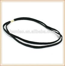 2014 fancy black elastic sport sweat rubber hair band headbands headwrap hair accessories for men