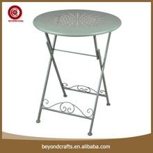 Round iron garden table decorative outdoor furniture liquidation