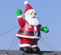 Attractive christmas decoration,large christmas inflatables, inflatable santa claus Y6014