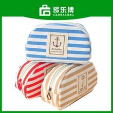 Mixed Colors Cosmetic Bag Navy Strip Pencil Bag