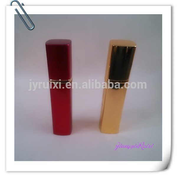 fancy square aluminum perfume bottle with spray pump
