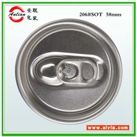 Carbonated soft drink/ Energy Drink 206# 330ml beverage silver ring Free sample high quality easy open caps