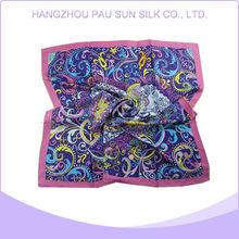 High quality promotion 100 silk chiffon digital printing scarf