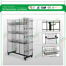 retail store wire grid display rack for candy