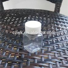 2015 venda quente 50ml claro garrafa pet quadrado, fabricante de china