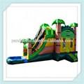 Bosque gorila castillo inflable divertido con la piscina de natación conveniente para al aire libre/interior/lugar divertido