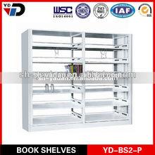2014 new white Steel Library Bookshelf Heavy Duty Goods shelf They assemble steel shelves Steel book shelves