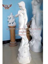 white marble angel kid sculpture