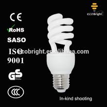 Good quality !T3 15W Half Spiral Energy Saving Light Bulb 10000H CE QUALITY