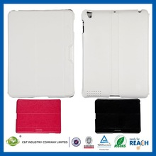 C&T Good qaulity folio stand fit pu leather cover skin for ipad air 2