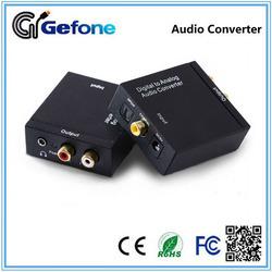 Digital Optical Coaxial audio to Analog RCA+3.5mm earphone 5.1 Audio Converter