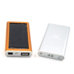 Multifunction Both Solar Panel Mobile power Bank and be charged using wall AC USB adapter genuine 1200mah Power Bank for mobiles