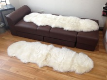 New Double Pelt Natural Hair Sheepskin Rug Sheep Skin Fur Big