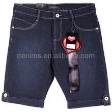 Cwl-1790m-a1 para mujer marcas de desgaste de nombre jean capri pantalones cortos de los pantalones