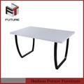 de diseño simple baratos de madera mesa de parte superior de la pierna de metal