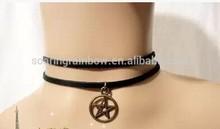 vintage stretch tattoo star choker hippy necklace