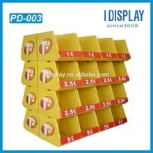 corrugated cardboard pallet display for promotion supermarket pallet display