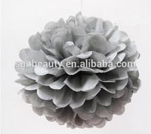 Artificial decorativa flores sliver pompons cheerleading para o casamento