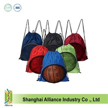 Sports college drawstring basketball/football ball backpack bags