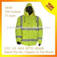 2015 hot sell warm reflective bomber jacket