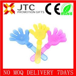 bulk cheap small,middle,big PP Neon colorful custom logo football fan clapper,NO MOQ,SAMPLE FREE