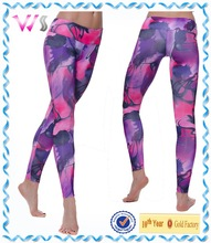Women Sexy Tight Sublimated Yoga Leggings Polyester and Spandex Yoga Leggings