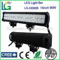 """10% fuera de precio 14.5"""" 90w 12v 24v 6250lm ip68 cree led trabajo de conducción de luz bar, 4wd, suv, off road, auto, camiones 4x4 barra de luz led"""