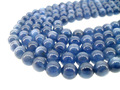 venta al por mayor grado aaa gran azul piedra natural 8mm cuentas cianita metafísica