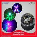 genérico de cristal rgb efecto de bola de luz led escenario giratorio para iluminación de discoteca dj fiesta