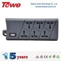 Towe ap-1026ns socket retardante 6 maneiras lightning placa soquete com cabo de rede de telefone, fax aumento proteger