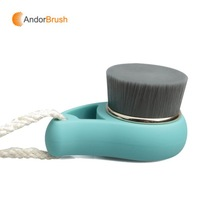 New Product Rubber Handle Black Bamboo Hair Pore Cleaning Brush Wash Face Brush