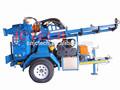 twd200 montado en un trailer portátil mini de poca profundidad de perforación de pozos rig