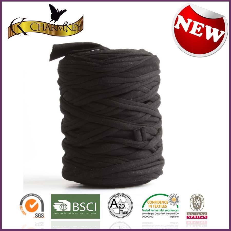Heißer verkauf Phantasie stricken tshirt garn für teppich