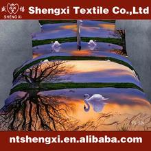 Cheap king size cartoon bed sheet sets luxury wedding 100% cotton bed set reactive printed 3d bedding set brand