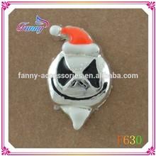 F630 Fashion High Quality Blue Enamel Halloween Charms Floating Charms