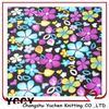 new flower knitted pile coral fleece for winter blanket