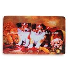 natural rubber pet feeding mat, full color printing dog eating mat