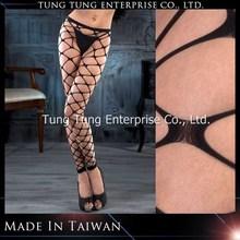 Tayvan fabrika şeffaf çapraz parlak kadın külotlu çorap