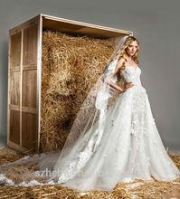 W225 Glamorous sweetheart neckline lace applique designer ball gown aliexpress wedding dresses online