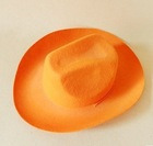 hot sale new fashion high quality products eco friendly durable wool felt blaze orange cowboy hat made in china