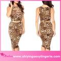 alta qualidade wild leopardo retalhamento 2 saia piece set