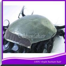 Toupee men's thin skin stock,curly hair toupee,toupees for black men