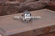 Sakyamuni Buddha ring 316L Stainless Steel fine jewelry US wholesale rings